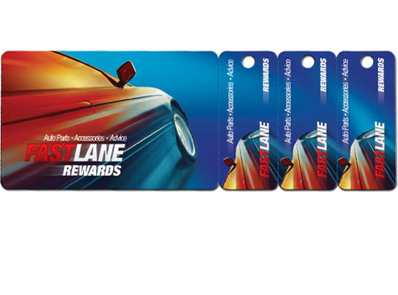 Discount Fundraising Cards with 3 Key Tags