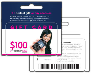 Plastic Hanging Gift Cards - 3""
